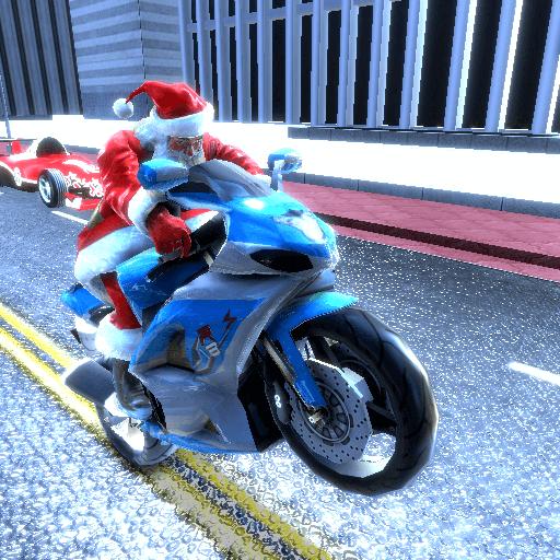 Baixar Santa Claus Motorbike Race