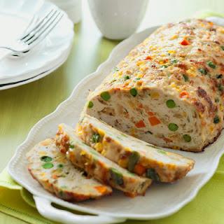 Chicken-Vegetable Meatloaf.