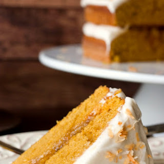 Pumpkin Layer Cake with Orange Ginger Filling and Cinnamon Cream Cheese Frosting.