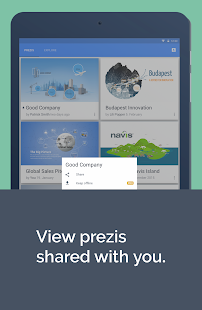 Prezi Viewer- screenshot thumbnail
