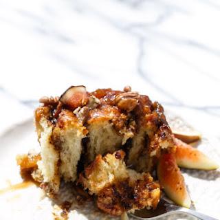Fig Sticky Buns with Caramel Glaze