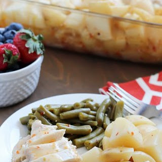 Baked Italian Chicken, Potatoes & Green Beans