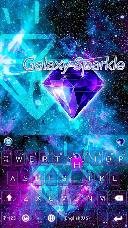 Galaxy Sparkle Kika Keyboard 8.0 screenshot 1272025