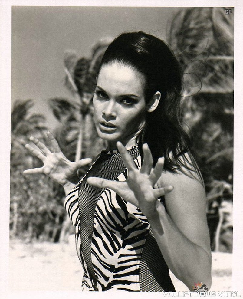 Martine Beswick Zebra Swimsuit from Thunderball