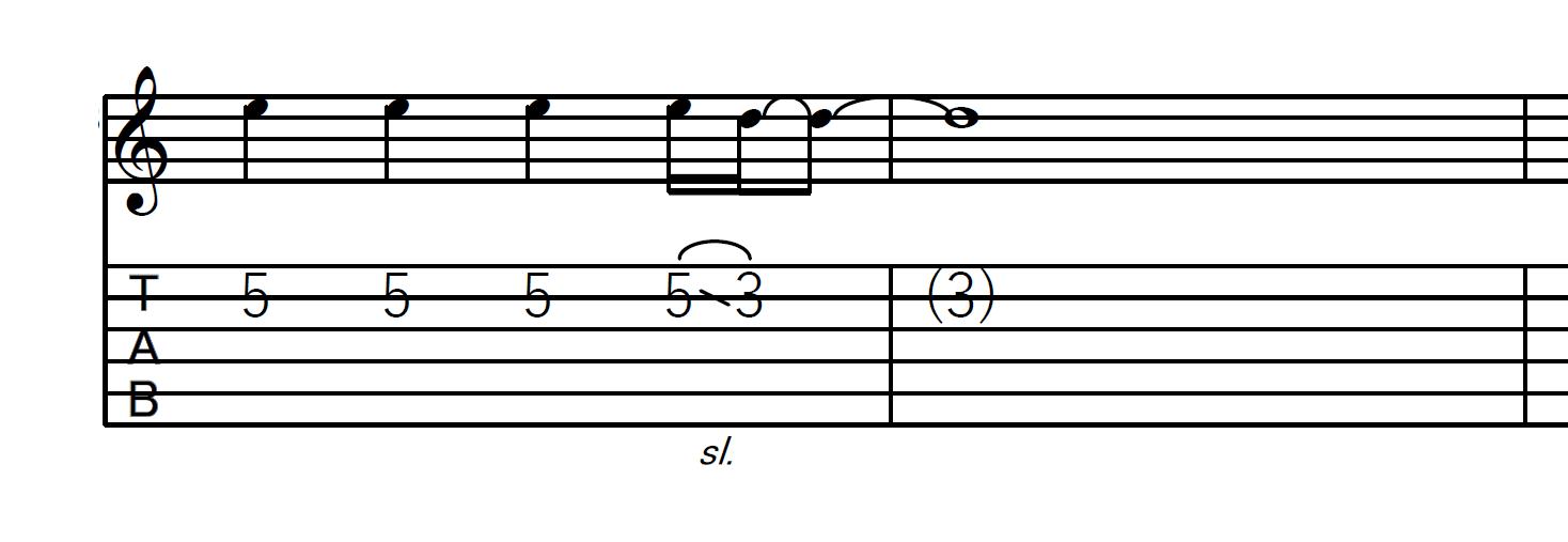 スライド奏法(スライドダウン)