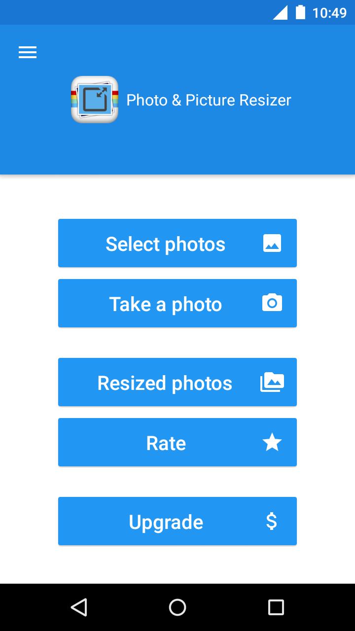 Photo & Picture Resizer Screenshot