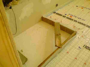 Photo: Space for the shower tray