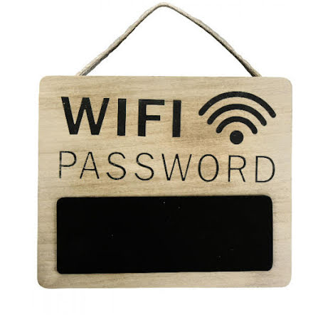 Skylt WIFI lösenord med griffeltavla