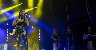 India Martínez en su concierto del jueves en Almería.