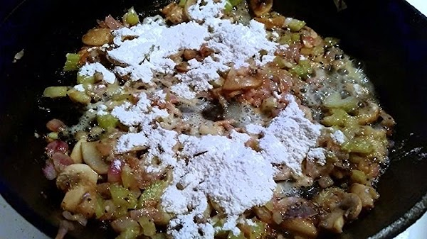 Stir in the flour to coat the vegetables and cook for another minute. Make...