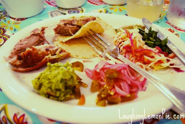 Photo: El Milagro del Cerdo at Pica's Taqueria, Boulder, COhttp://laughinglemonpie.com/el-milagro-del-cerdo-dinner-at-picas-mexican-taqueria/