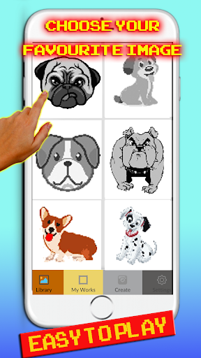 Dog Pixel Art: Coloring By number cheat screenshots 2