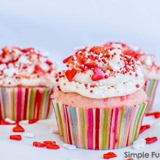 Vanilla Sprinkle Cupcakes.