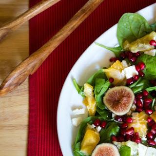 Pomeganate Orange Spinach Salad.
