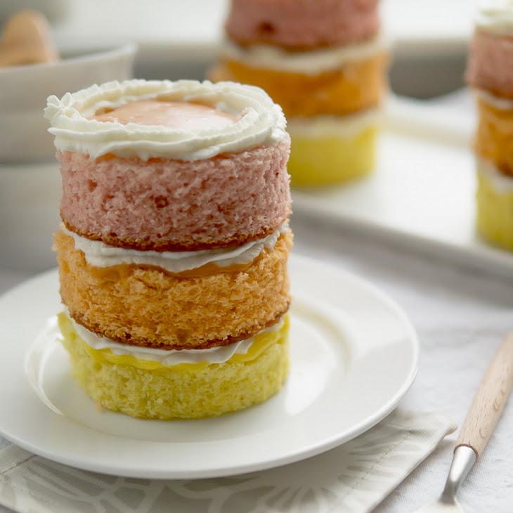 Guava Mango Passion Fruit Mini Cakes Recipe