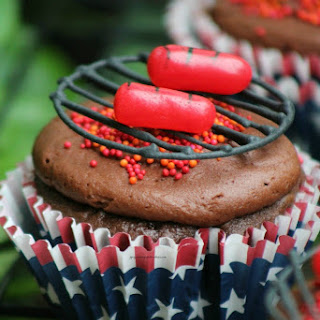 4th of July BBQ Hot Dog Cupcakes.