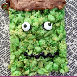 Frankenstein Rice Krispy Treats