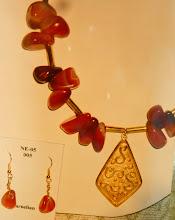 Photo: Gold vermeil pendant, carnelian, agate, brass, 14K gold vermeil  SOLD/ПРОДАНИЙ