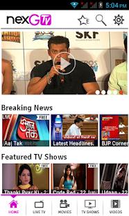 nexGTv - Live TV,Movies,Videos - screenshot thumbnail