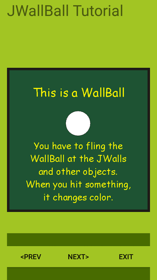 JWallBall- screenshot