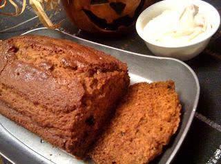 Pumpkin Bread with Cinnamon Honey Cream Cheese Spread!