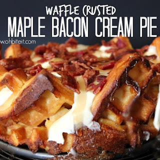 ~WAFFLE CRUSTED MAPLE BACON CREAM PIE!