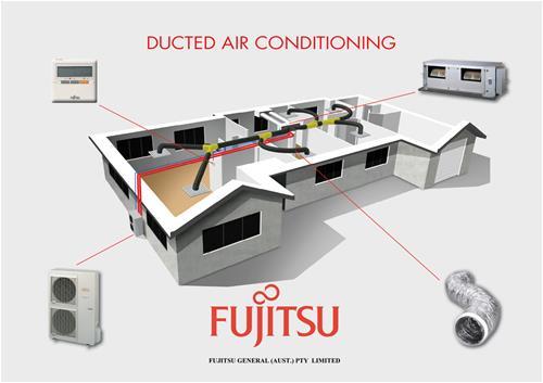 Fujitsu Ducted Air Illustration