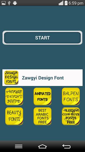 Zawgyi Design Font