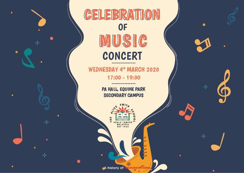 Celebration of music concert poster