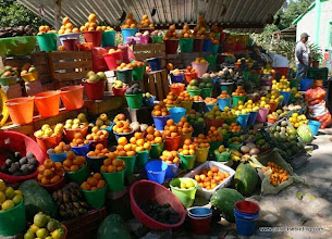 Photo: Fruit stand in the foothills of San Blas