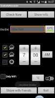 Screenshot of Umbrella Reminder