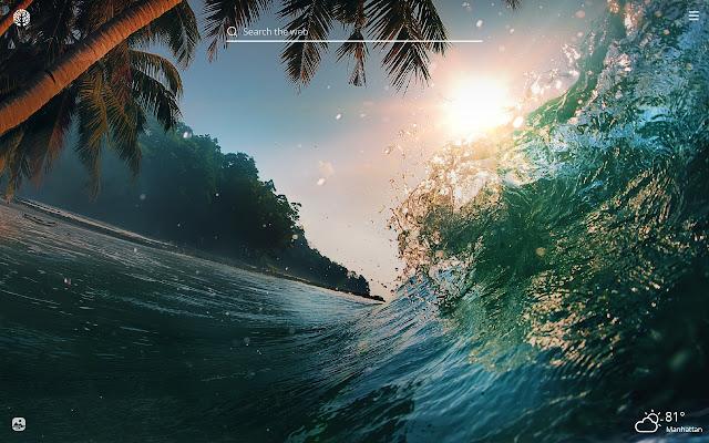 Ocean Waves Hd Wallpapers New Tab Theme