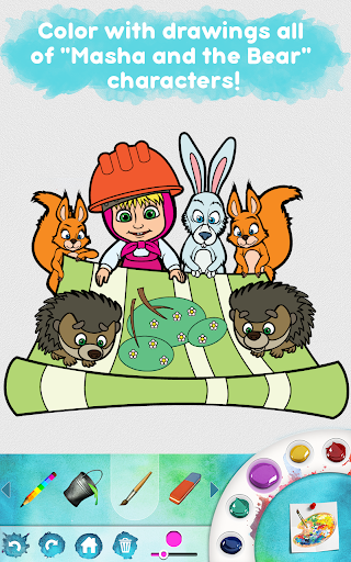 Masha and the Bear: Free Coloring Pages for Kids 1.0.3 screenshots 18