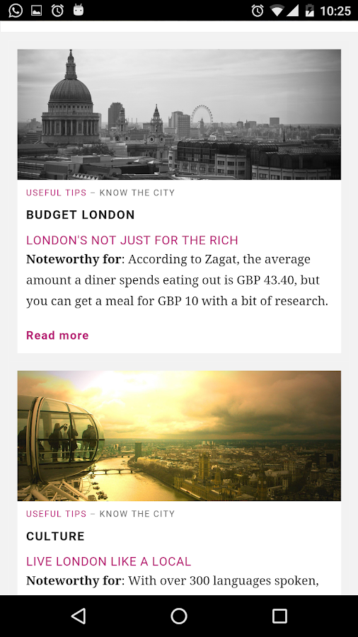 London City Guide- screenshot