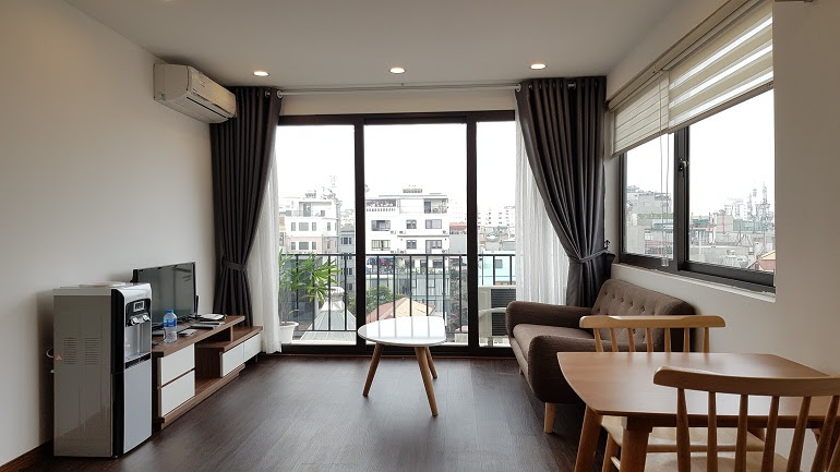 Modern 1 – bedroom apartment with balcony in Linh Lang street, Ba Dinh district for rent