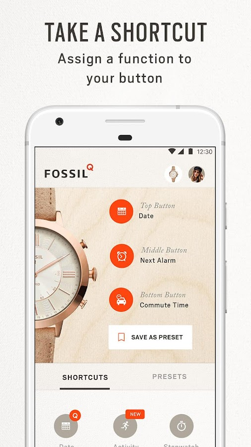 Fossil Q- screenshot
