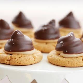 Chocolate Peanut Butter Hi Hat Cookies.