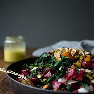 WINTER KALE SALAD + GINGER DRESSING