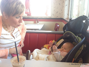 Photo: First stop after PDX: Burgerville with Mom, sister, and neice