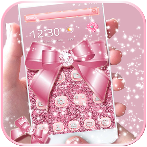 Rose Gold Diamond Bow Theme file APK for Gaming PC/PS3/PS4 Smart TV