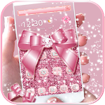 Rose Gold Diamond Bow Theme Icon