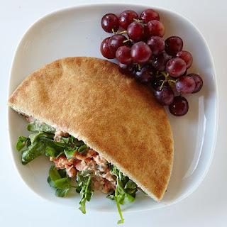 Salmon Pita Sandwich.