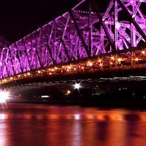 Howrah bridge by Sonali Majumder - Buildings & Architecture Bridges & Suspended Structures ( pwcbridges )