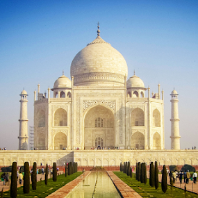 Taj Mahal by Dale Youngkin - Buildings & Architecture Statues & Monuments ( tourist attraction, taj mahal, agra, india,  )