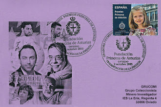 Photo: Tarjeta con el Matasellos Primer día de circulación del sello de los Premios Princesa de Asturias