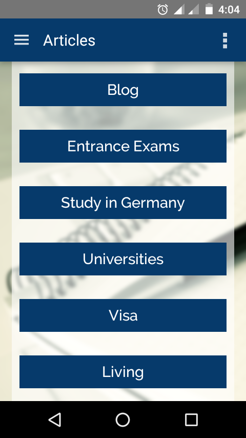 Study in Germany- screenshot