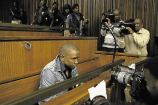 CUL-DE-SAC: Armed robber William 'King of Bling' Mbatha in the Johannesburg High Court  yesterday during the pre-sentencing proceedings.  Photo: Mohau Mofokeng