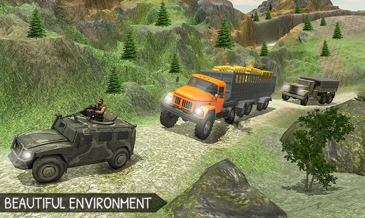 Off-Road Gold Transport Trailer Trucker 3D screenshot 3