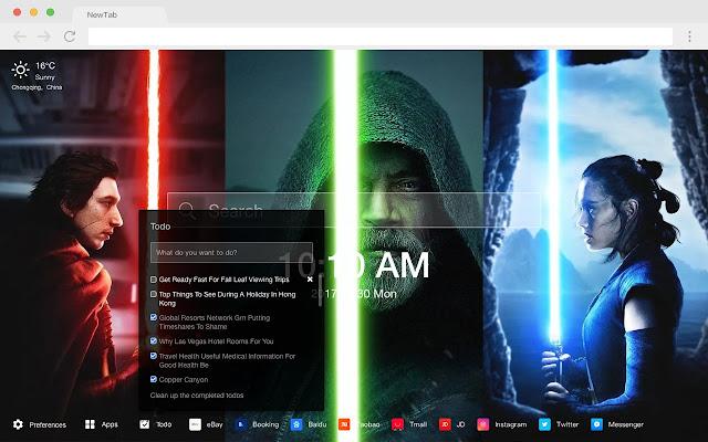 Rey Star Wars New Tabs HD Pop Movies Themes