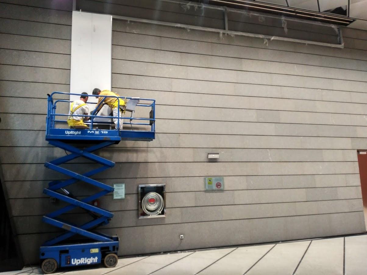 Colocación de los paneles de PVC